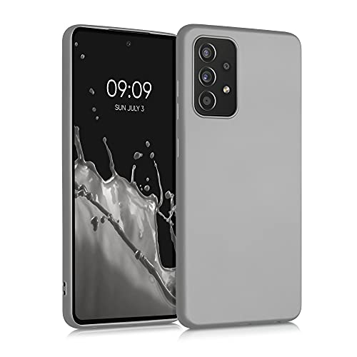kwmobile Hülle kompatibel mit Samsung Galaxy A52 - Hülle Handyhülle - Handy Hülle in Metallic Silber