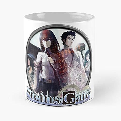 Zero Vn Visual Novel Steins Gate - Best 11 oz Kaffeebecher - Taza de café de regalo de moda superventas negra, blanca, cambia de color 11 onzas, 15 onzas para todos