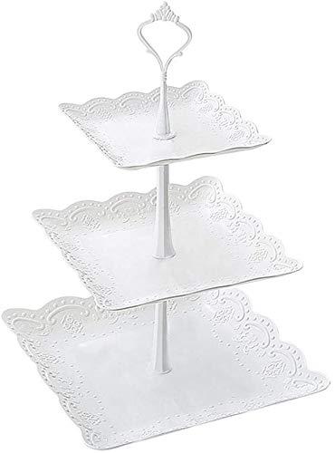 Espositore per dolci, piatto per snack a 3 livelli Candy Tower Cupcake acrilico e supporto per espositore da dessert per la festa nuziale