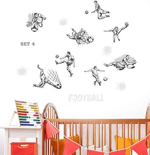 Boceto de dibujos animados fútbol balón de fútbol pegatinas de pared para...