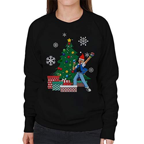 Ash Ketchum Around The Christmas Tree Women's Sweatshirt