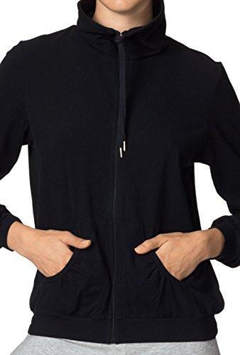 CALIDA Damen Jacket Favourites Strickjacke, Schwarz (schwarz 992), 38 (Herstellergröße: XS = 36/38)
