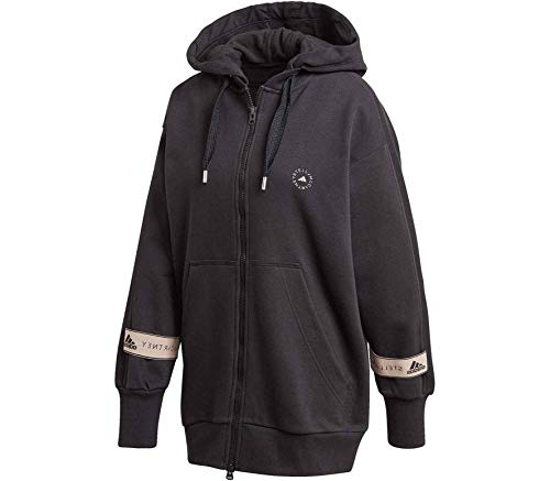 adidas FZ Hoodie Sweatshirt, Mujer, Black, XS