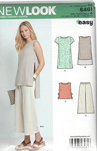 New Look 6461–Cartamodello per Vestito, Tunica, Top e pinocchietti da Donna Colore: Bianco