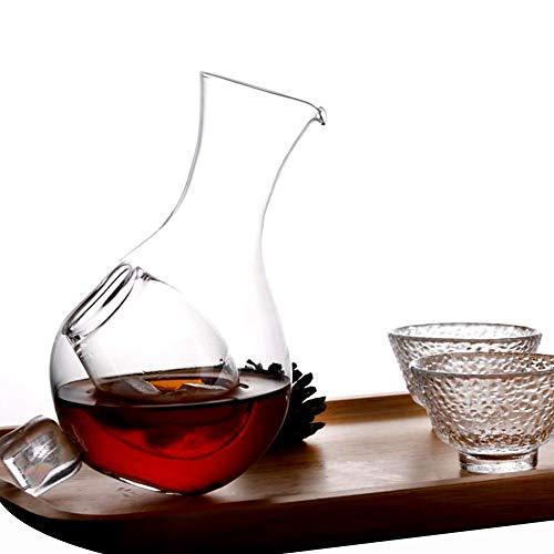 Kayla-lan Botella Decantador De Vidrio De Sake Frío De 400 ml Con Bolsillo De Hielo Sake Frío Para Bourbon, Vodka Licor, Scotch