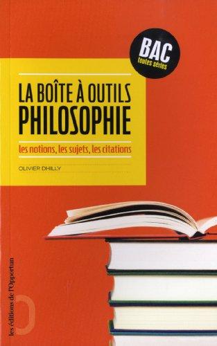 Philosophie : la boîte à outils