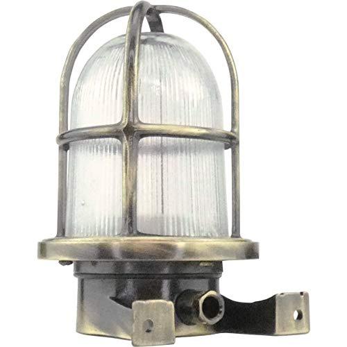 Fos- Lampada applique da parete da muro costruire dall' ottone per esterni o per interni illuminazione per marina, nautica barca vintage retrò leggero luce LED sconce industr