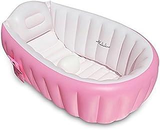 Bañera hinchable para bebé, OIF, portátil, para niños, bebés, grueso, suave, cojín de aire para piscina, asiento central
