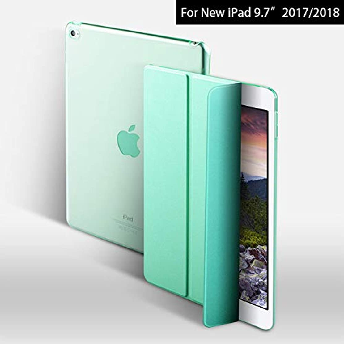 Case Cover for New iPad 9.7 inch 2017, SZEGYCHX YiPPee Color PU Smart Cover Case Magnet Wake Up Sleep For New iPad 2017 model A1822 A1823 (Mint Green)