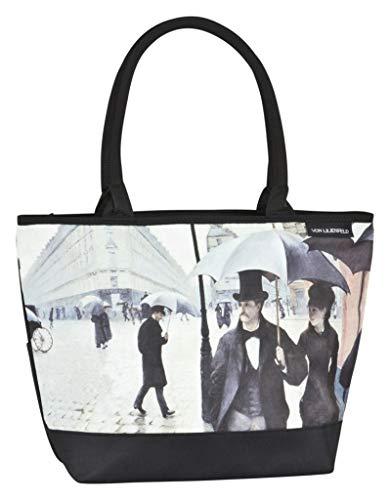 von Lilienfeld Bolsa Compra Shopper Grande de Playa Bandolera Mujer Arte Gustave Caillebotte: Paris con lluvia