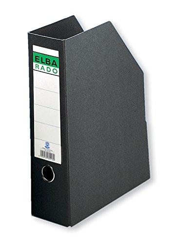 ELBA 100420838 Stehsammler rado aus Hartpappe 1 Stück A4 8,5 cm breit schwarz Stehordner Archivschachtel Archivbox Zeitschriften-Sammler Dokumenten-Ordner