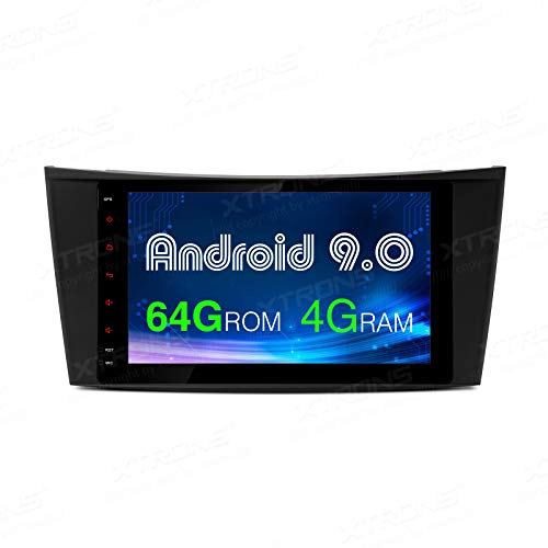 XTRONS Android 9.0 coche estéreo octa Core 64G ROM 4G RAM Auto Radio 8 pulgadas Unidad principal soporte BT 2K 1080P video WiFi OBD TPMS auto Play para Mercedes Benz W211 219 CLS 2002-08