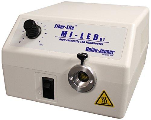Dolan-Jenner Fiber-Lite Mi-LED-US-B1 High Power White LED Optic Illuminator, 40,000 Hours LED Life, 15 mm Fiber Input Diameter, 8.8' Length x 4.8' Height