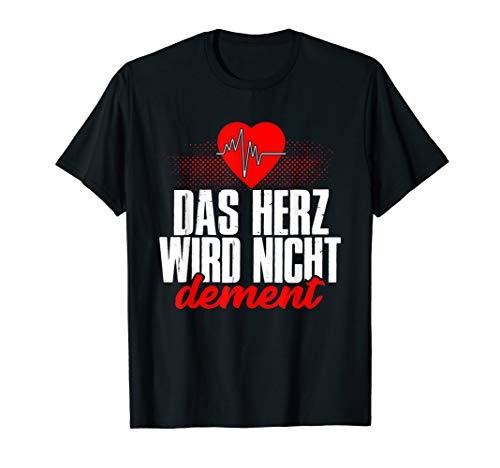 Das Herz wird nicht dement Herzschlag Altenpflegerin Herz T-Shirt