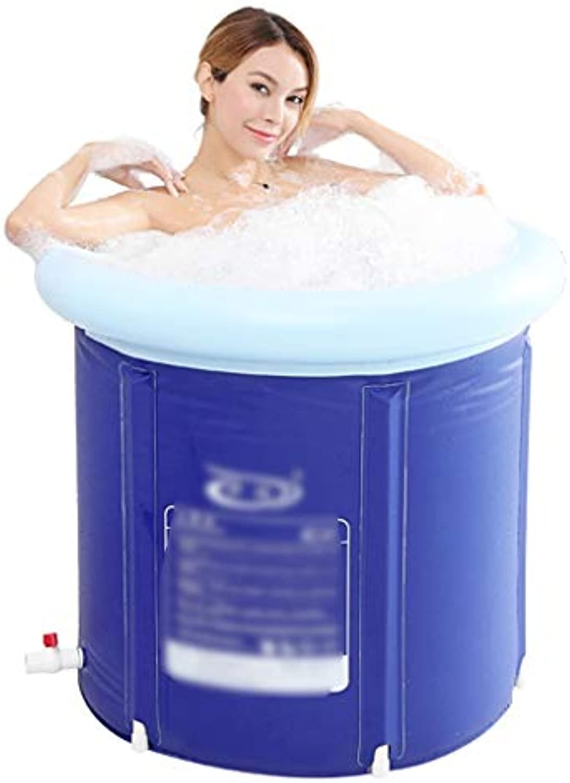 Badewanne Erwachsene Badewanne Kinderwanne Hausdurchsuchung Groe Badewanne Full Body Adult Falten Badewanne Plastic Space (Farbe   Blau, Größe   65  65CM)