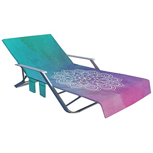 Lounge Sedia Cover, Multi-funzionale Lazy Lounger Asciugamano Lazy Lounge Sedia da asciugamani da asciugamani da asciugamani Soletto Soletto Mate Giardino vacanze senza sedia Lounge Sedia Copertura d