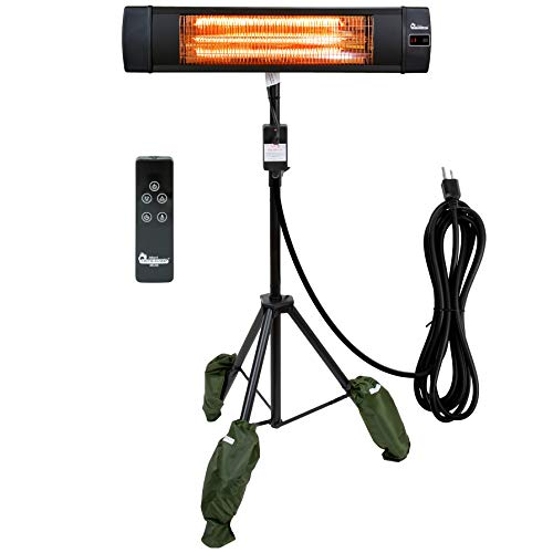 Dr Infrared Heater DR-338 Carbon Infrared Patio Heater with Tripod, Black