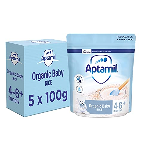 Aptamil Baby Rice Cereal, 4-6+ Months, 100 g, Pack of 5