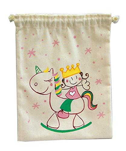 Saco de merienda personalizado Unicornia