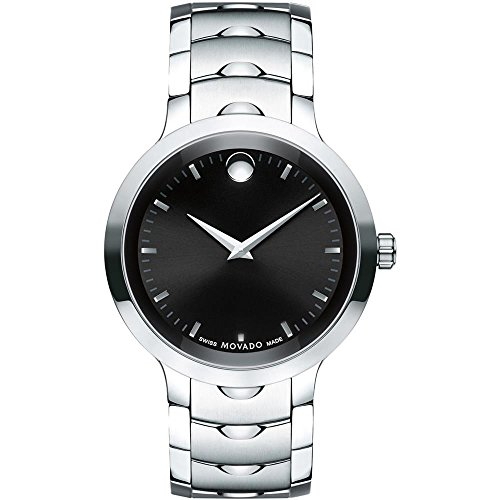 Movado Luno 0607041 Silver Stainless-Steel...