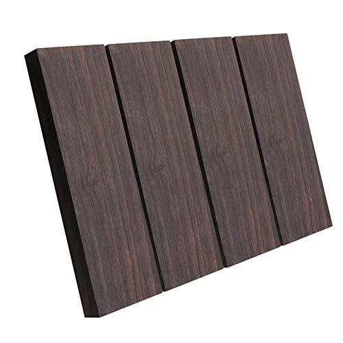 Iycorish Placa de Encargarse de Madera de Madera de éBano Negro de 4 Piezas para Instrumentos Musicales, Herramientas de Bricolaje, 3/8 Pulgadas X 1,5 Pulgadas X 5 Pulgadas