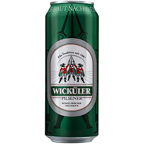 24 Dosen a 0,5L Wicküler Pilsener Orginal Bier inc. 6.00€ Einweg Pfand 4,9% Vol.