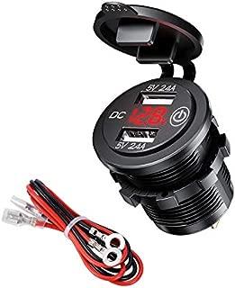 Funnyrunstore 12V Coche Barco Moto Encendedor de cigarrillos Enchufe Toma de corriente Accesorios para coche Resistente al calor Toma de corriente a prueba de agua negro