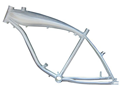 "BBR Tuning 26"" Inch Motorized Bicycle Frame with Built In 2.4L Gas Tank – Gas Bike Frame Built In Motor Mount (Silver)"