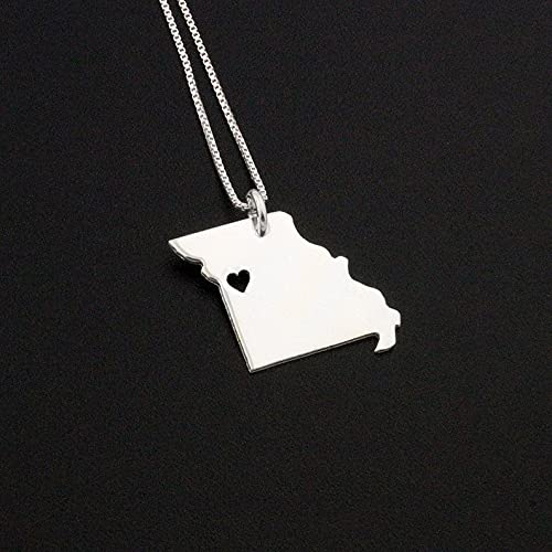 Rose Gold Jewelry Personalized Jewelry Gift Missouri State Necklace Engraving Pendant Sterling Silver Jewelry Gold Jewelry