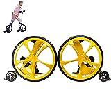 JFF Rueda De Bicicleta Todo Terreno Patines En Línea, Patines En Línea Big Wheel Creative Roller Blades - Neumático De Plástico Inflado Adecuado para Adultos, Ajustable,Amarillo