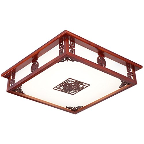 Modern New Chinese-Style Ceiling Lamp LED Living Room Lamp Simple Antique Solid Wood Bedroom Lamp Study Room Lamp (Size : S-1)