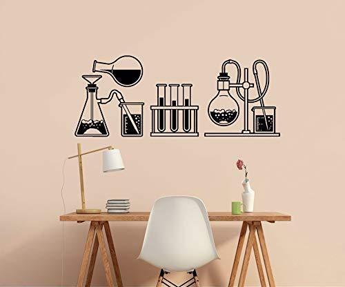 yaonuli Laboratorio de química Etiqueta de la Pared Frasco de Vidrio Pegatina de Vinilo hogar Sala de Estar Escuela Aula Oficina Decorativo Etiqueta de la Pared 55x102cm