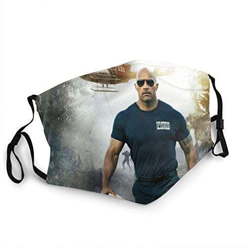 Dwayne The Rock Johnson Unisex Nose Mouth Dust Protection Adjustable Face Mask Balaclava Face Cover Bandana for Men and Women Made In USA-face mask-