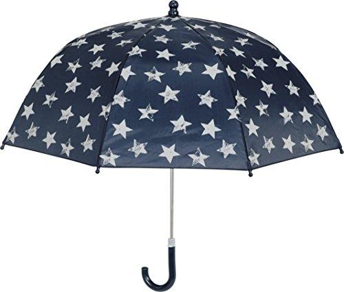 Playshoes Mädchen Sterne Regenschirm, Blau (Marine 11), One Size