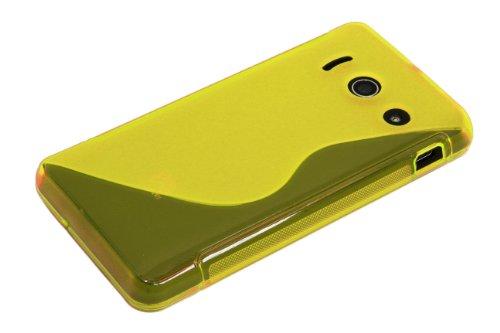 Luxburg® S-Line Design Schutzhülle für Huawei Ascend Y300 in Farbe Goldgelb/Gelb, Hülle Case aus TPU Silikon - 5