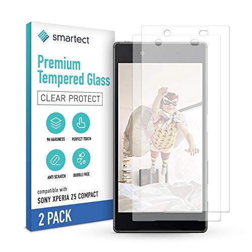 smartect Schutzglas kompatibel mit Sony Xperia Z5 Compact [2 Stück] - Tempered Glass mit 9H Festigkeit - Blasenfreie Schutzfolie - Anti-Kratzer Bildschirmschutzfolie