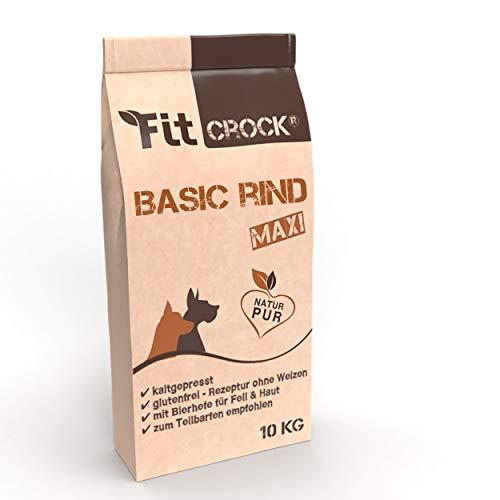 cdVet Fit-Crock Hundefutter trocken Basic Rind Maxi 2 kg, getreidefrei