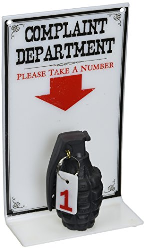 BigMouth Inc The Complaint Department Sign, Hilarious Sign for Your Desk or Office, Prank Your Co-Workers