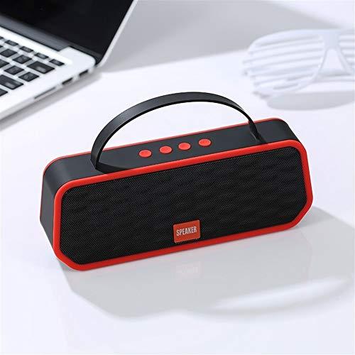 Scra AC Red Bluetooth 5.0 Altavoz Bluetooth inalámbrico de Altavoces estéreo portátil Altavoz de la Ayuda Exterior de FM TF Tarjeta Manos Libres