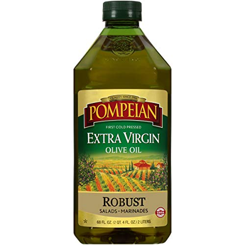 Pompeian Robust Extra Virgin Olive Oil, First Cold Pressed, Full-Bodied Flavor, Perfect for Salad...