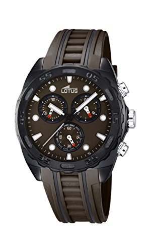 Lotus Herren Chronograph Quarz Uhr mit Gummi Armband 18159/3