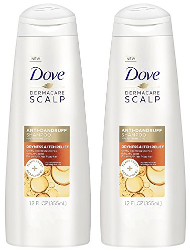 Dove Dermacare Scalp - Anti-Dandruff Shampoo - Dryness & Itch Relief - Net Wt. 12 FL OZ (355 mL) Per Bottle - Pack of 2 Bottles