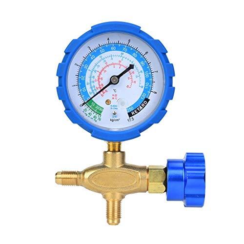 Medidor de 250 psi Manómetro Indicador de presión Diagnóstico del múltiple Aire acondicionado del colector Refrigerante 17.5 kg/cm² para R22 R410A R134A R407C