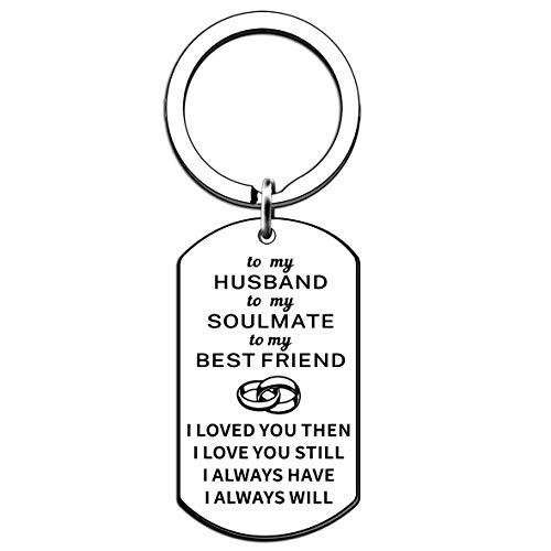 JMIMO Llavero para marido, aniversario, San Valentín, regalo de cumpleaños para marido, marido, marido, novio, prometido, hombre