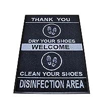 Alfombra desinfectante Calzado, Felpudo Entrada casa, Alfombra Limpia Zapatos, Felpudo Exterior e Interior, moquetas higienizantes, Felpudo Grande con Borde de Goma, 60x85