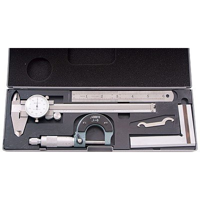HHIP 4902-0004 4 Piece Machinist's/Student's Kit with 6