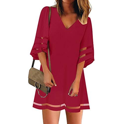 Damen Strandkleider Damen Sommer Kurzarm Rundhals Drucken Kleider Sommerkleid Maxikleid Casual Lang Streetwear Cocktailkleid Abendkleid