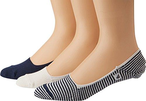 Sperry Men's Marl Half-Cushion 3 Pack Liner Socks, Navy/White, Shoe Size: 6-12