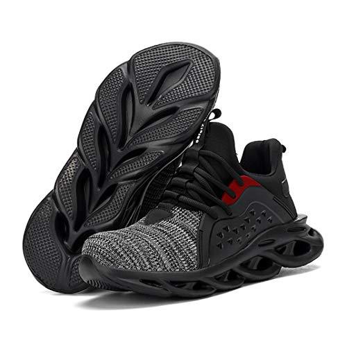 ZYLL Zapatos indestructibles Calzado Hombre de Trabajo de Seguridad con Puntera de Acero del Casquillo a Prueba de pinchazos Botas tamaño Fresco Zapatillas de Deporte,B,37