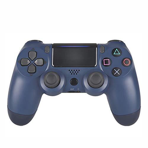 EtexFan Mandos PS4 Inalambricos, Controlador de Juegos PS4 Inalámbrico Bluetooth Gamepad de Doble Vibración 6-Axis para Playstation 4/PS3/PC - Azul Marino
